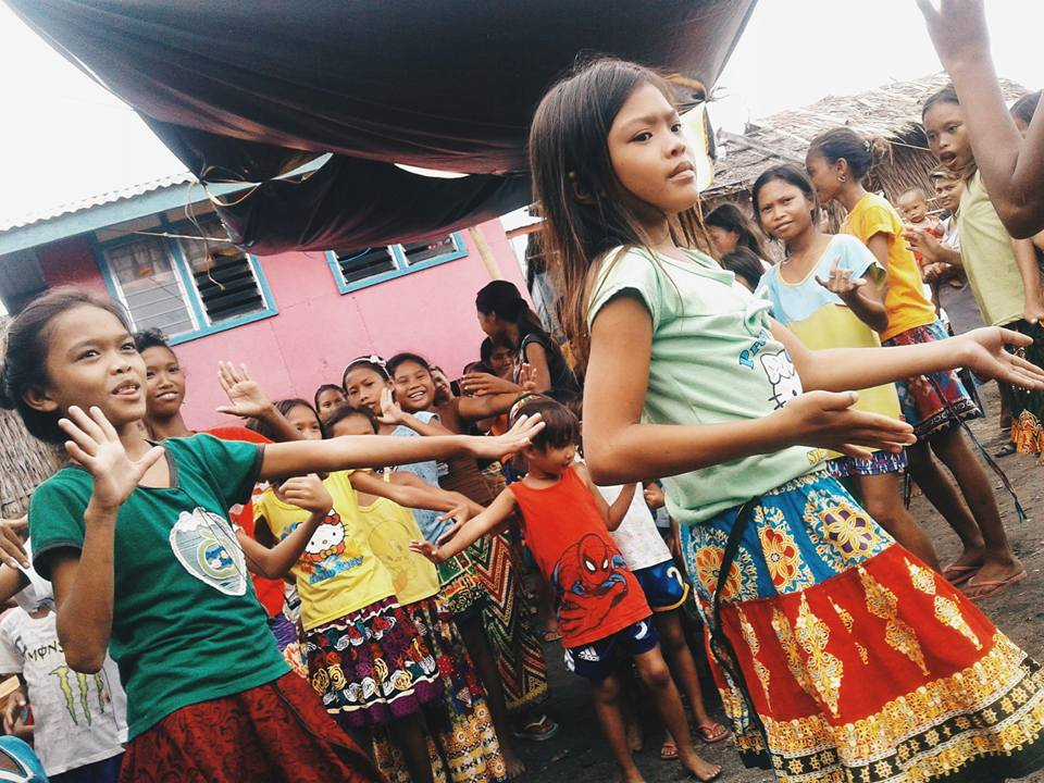 Badjao children showing off their cultural dance