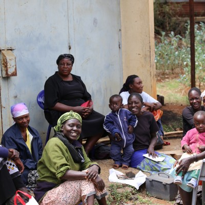 Members of the community income-generation and micro-finance projects at Education for Life